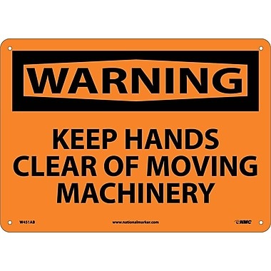 Warning, Keep Hands Clear Of Moving Machinery, 10
