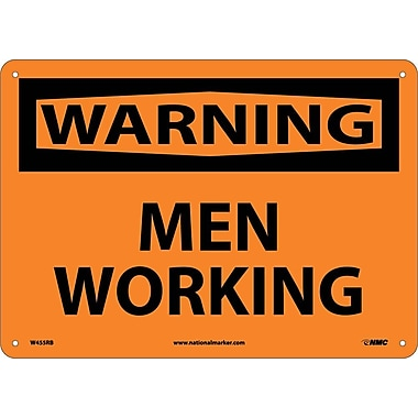 Warning, Men Working, 10X14, Rigid Plastic