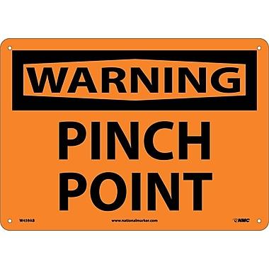 Warning, Pinch Point, 10X14, .040 Aluminum