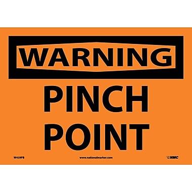 Warning, Pinch Point, 10X14, Adhesive Vinyl