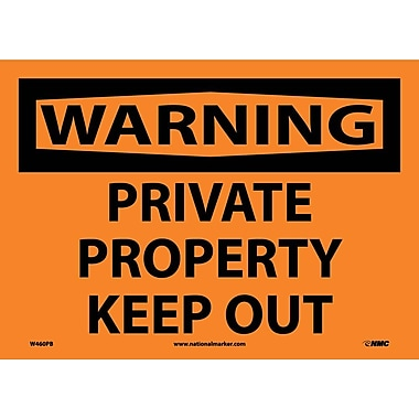 Warning, Private Property Keep Out, 10