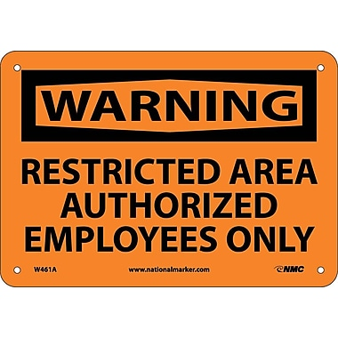 Warning, Restricted Area Authorized Employees Only, 7