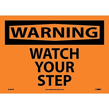 Warning, Watch Your Step, 10X14, Adhesive Vinyl