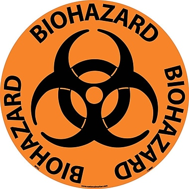 Floor Sign, Walk On, Biohazard, 17