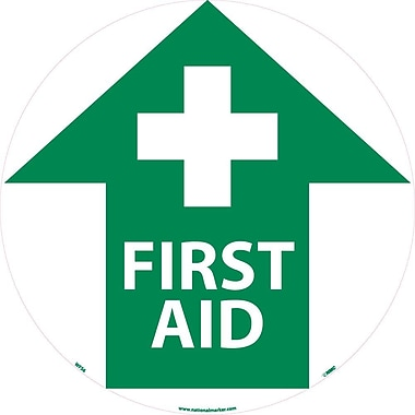 Floor Sign, Walk On, First Aid, 17