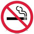 Floor Sign, Walk On, No Smoking (Symbol), 17in. Dia