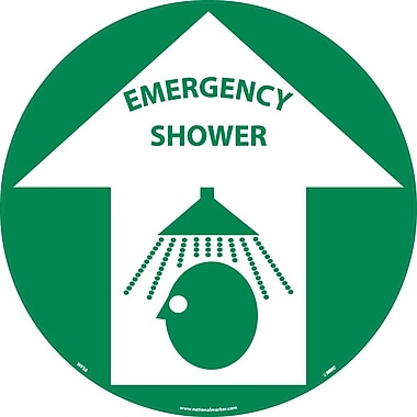 Floor Sign, Walk On, Emergency Shower, 17