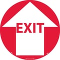 Floor Sign, Walk On, Exit W/Arrow, 17in. Dia
