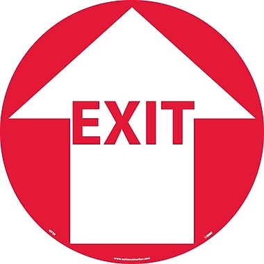 Floor Sign, Walk On, Exit W/Arrow, 17
