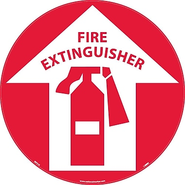 Floor Sign, Walk On, Fire Extinguisher, 17