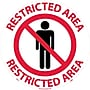 Floor Sign, Walk On, Restricted Area, 17 Dia