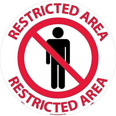 Floor Sign, Walk On, Restricted Area, 17