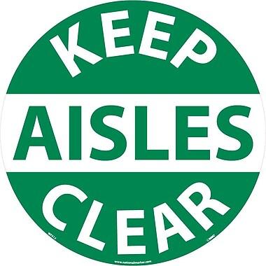 Floor Sign, Walk On, Keep Aisles Clear, 17