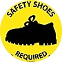 Floor Sign, Walk On, Safety Shoes Required, 17