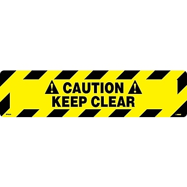Floor Sign, Walk On, Caution Keep Clear, 6