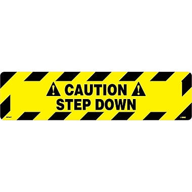 Floor Sign, Walk On, Caution Step Down, 6