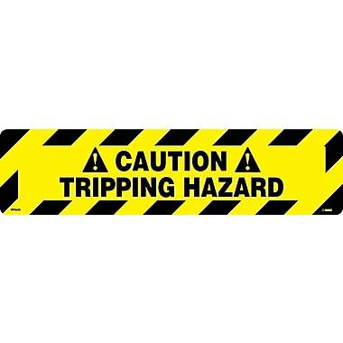 Floor Sign, Walk On, Caution Tripping Hazzard, 6X24