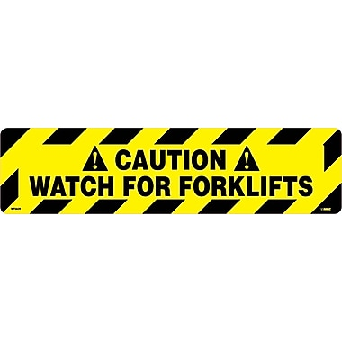 Floor Sign, Walk On, Caution Watch for Forklifts, 6