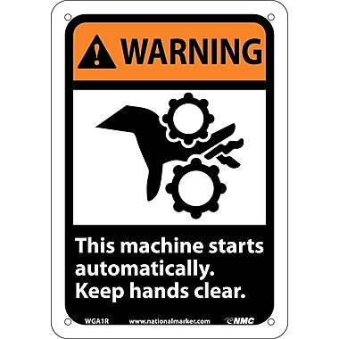 Warning, This Machine Starts Automatically Keep Hands Clear with Graphic, 10
