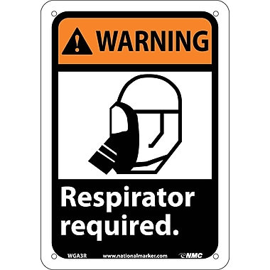 Warning, Respirator Required with Graphic, 10