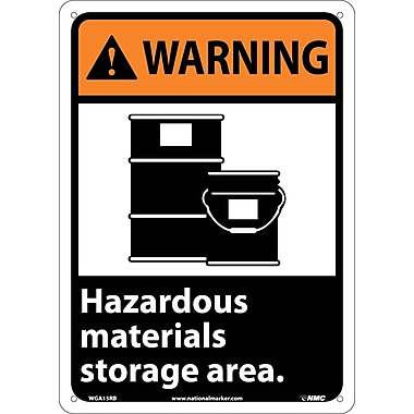Warning, Hazardous Materials Storage Area (W/Graphic), 14X10, Rigid Plastic