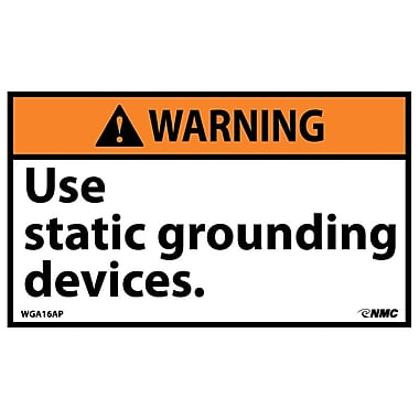 Warning, Use Static Grounding Devices, 3