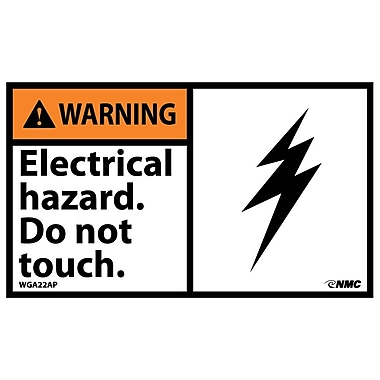 Warning, Electrical Hazard Do Not Touch, 3