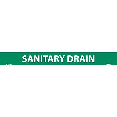 Pipemarker, Adhesive Vinyl, Sanitary Drain, 1X9 1/2