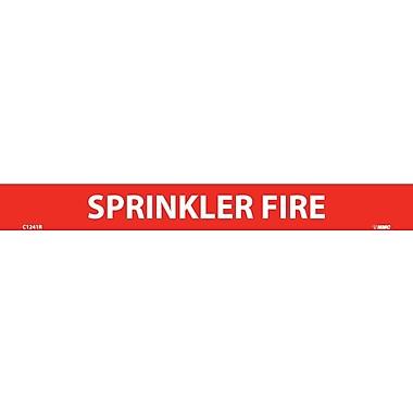 Pipemarker, Adhesive Vinyl, 25/Pack, Sprinkler Fire, 1