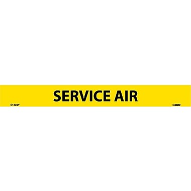 Pipemarker, Adhesive Vinyl, 25/Pack, Service Air, 1