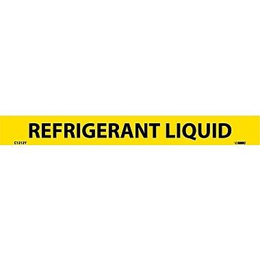 Pipemarker, Adhesive Vinyl, Refrigerant Liquid, 1X9 1/2