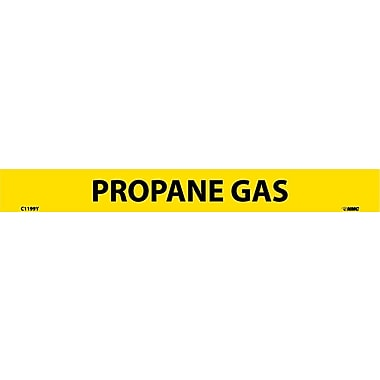 Pipemarker, Adhesive Vinyl, Propane Gas, 1X9 1/2