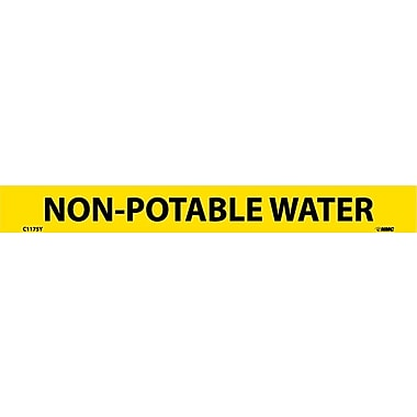 Pipemarker, Adhesive Vinyl, Non-Potable Water, 1X9 1/2