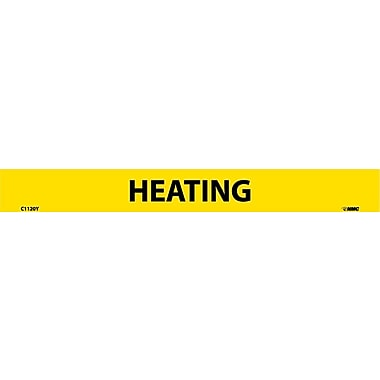 Pipemarker, Adhesive Vinyl, Heating, 1X9 1/2