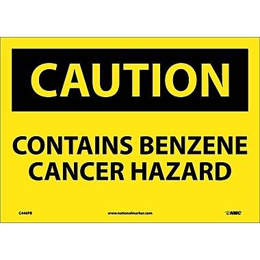 Caution, Contains Benzene Cancer Hazard, 10