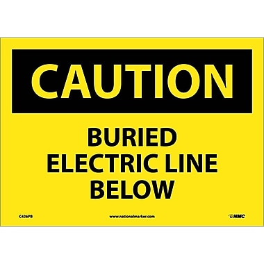 Caution, Buried Electric Line Below, 10