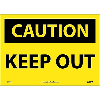 Caution, Keep Out, 10X14, Adhesive Vinyl