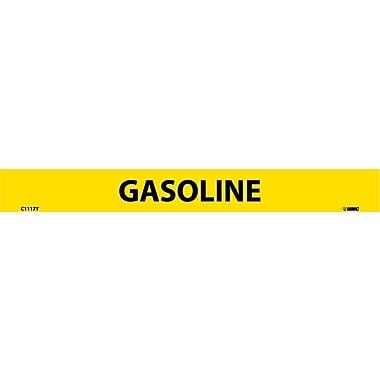 Pipemarker, Adhesive Vinyl, 25/Pack, Gasoline, 1