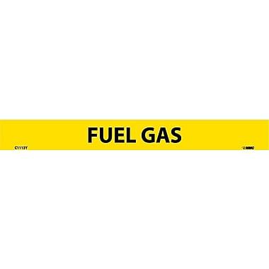 Pipemarker, Adhesive Vinyl, Fuel Gas, 1X9 1/2