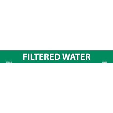 Pipemarker, Adhesive Vinyl, Filtered Water, 1X9 1/2