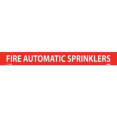 Pipemarker, Adhesive Vinyl, 25/Pack, Fire Automatic Sprinklers, 1