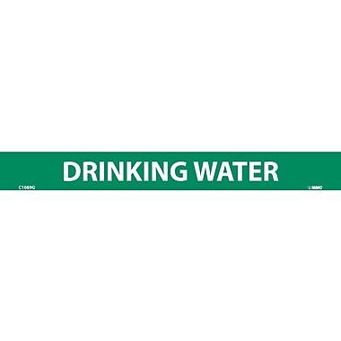 Pipemarker, Adhesive Vinyl, Drinking Water, 1 1/8X7