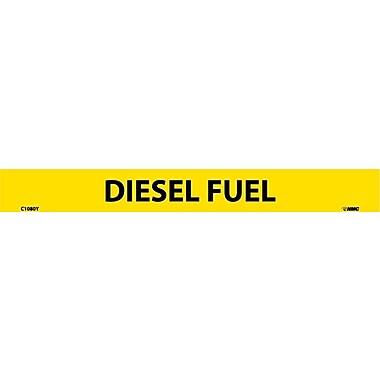 Pipemarker, Adhesive Vinyl, Diesel Fuel, 1X9 1/2