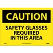 Caution, Safety Glasses Required In This Area, 10X14, Adhesive Vinyl