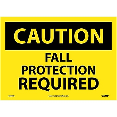 Caution, Fall Protection Required, 10