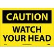 Caution, Watch Your Head, 10X14, Adhesive Vinyl