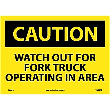 Caution, Watch Out for Fork Truck Operating In Area, 10