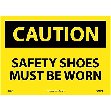 Caution, Safety Shoes Must Be Worn, 10