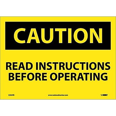 Caution, Read Instructions Before Operating, 10