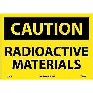 Caution, Radioactive Materials, 10X14, Adhesive Vinyl